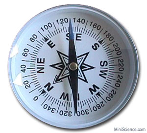 Large, 3 in Round Compass